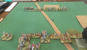 Carthaginians drawn up against Gauls.