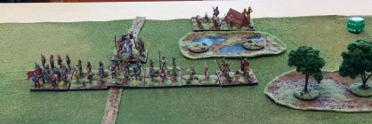 The defenders of Scotland (helped by some friendly Vikings on their right flank.