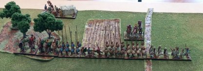The valiant Macedonians line up to hold Roman depredation at bay.
