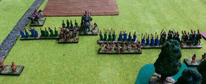 The end, after casualties on the right flank, but success on the left.